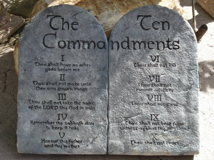 The Negative Origin of 'The Ten Commandments' Given to Moses