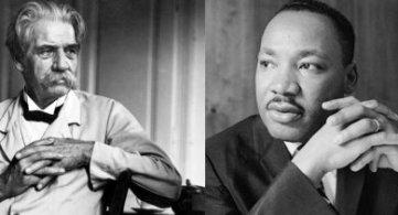 Albert Schweitzer and Martin Luther King
