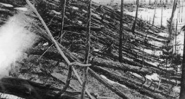 The Event that Caused the Tunguska Crater in Russia